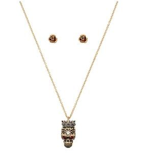 Betsey Johnson Rockin Riches Skull Set